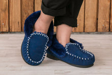 Load image into Gallery viewer, Taylor Moccasins - Navy Blue