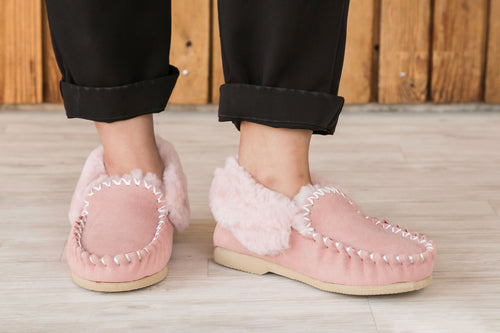 Taylor Moccasins - Pink