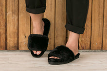 Load image into Gallery viewer, Sage Slippers - Black