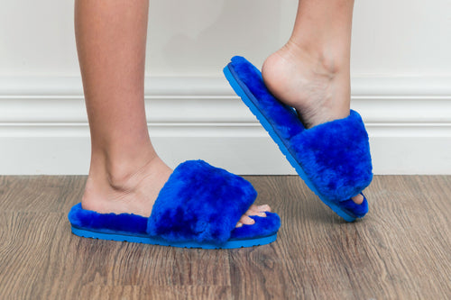 Sage Slippers - Sapphire