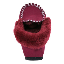 Load image into Gallery viewer, Taylor Moccasins (kids) - Burgundy