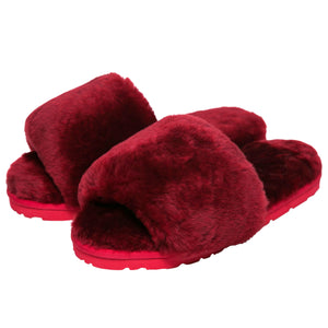 Sage Slippers - Burgundy