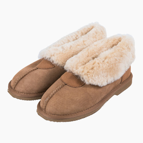 Cecil Slippers - Chestnut