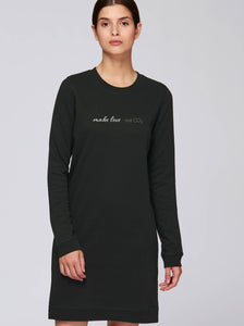 Sweatshirtkleid – Make Love Not CO2 Nachhaltige & faire Kleider Shirts und Hoodies aus Bio-Baumwolle! Fair Fashion, Organic Cotton,