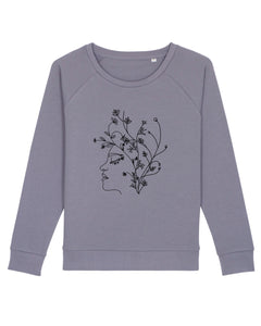 Lockeres Sweatshirt – Flowerhead | Bio & Fair