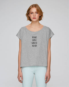 Lässiges Shirt – Make Love Great Again Nachhaltige & faire Kleider Shirts und Hoodies aus Bio-Baumwolle! Fair Fashion, Organic Cotton,