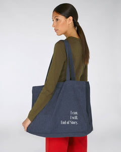 Recycelte Shopping-Bag - I can I will End of Story Nachhaltige & faire Kleider Shirts und Hoodies aus Bio-Baumwolle! Fair Fashion, Organic Cotton,