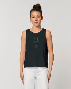Sommer und Yoga Top – I am bright. I am light. | Bio & Fair