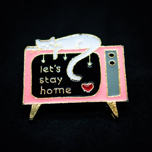 Pin Let's stay home
