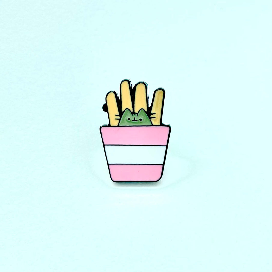 Pin Gatito french fries