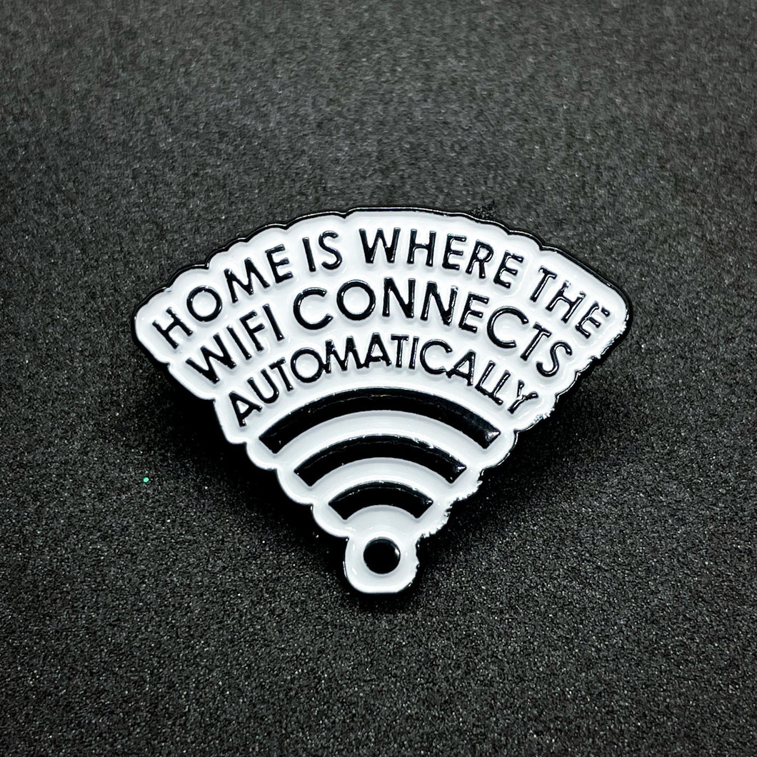 Pin home is where the wifi connects automatically