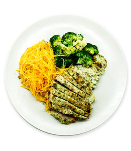 Parsley Cauliflower Crusted Pork Chop with Spaghetti Squash 15 % OFF