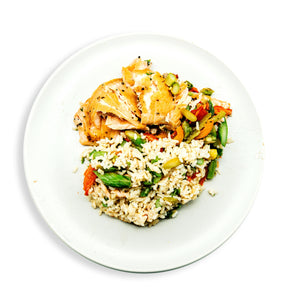Salmon with mixed Vegetable Rice 15% OFF
