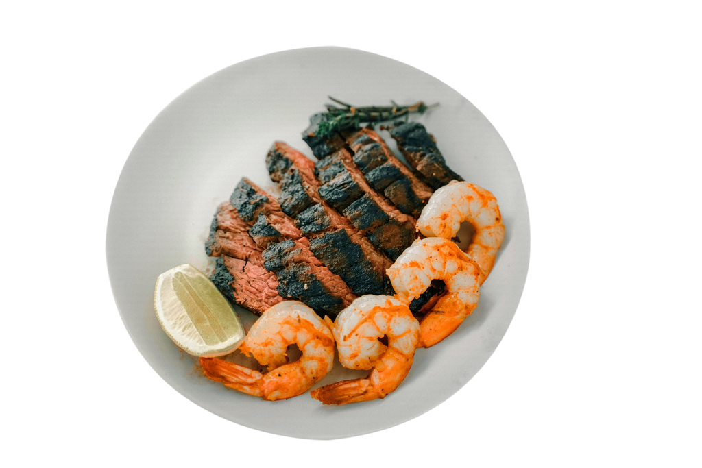 Shrimp and Flank Steak