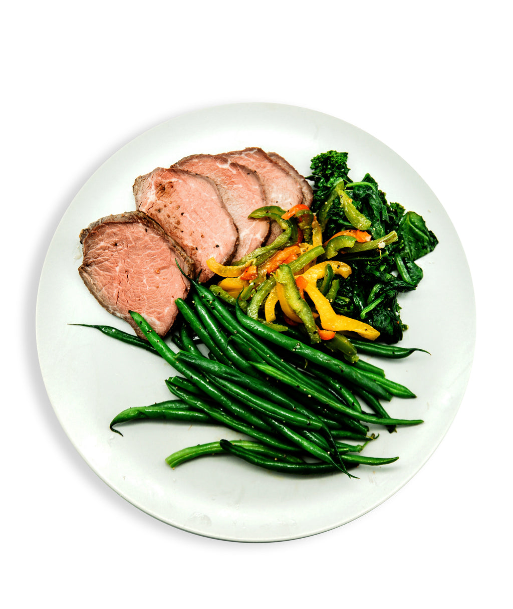 Sirloin Steak with Seasonal Mixed Vegetables