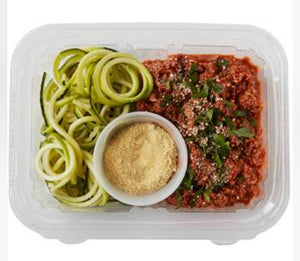 Bolognese with Zucchini noddles and Cashew Parmesan 20% OFF