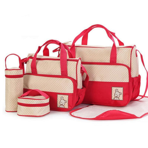 Colored Zip Print Canvas Shoulder Diaper Bag ... - InOutCool