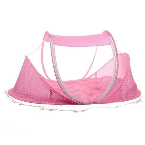 Portable Foldable Crib With Netting Newborn Infant Bedding Sleep Travel Bed - www.inoutcool.com