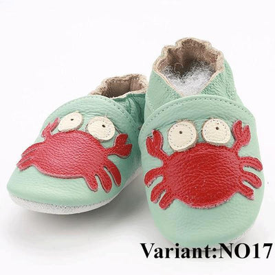 Soft Genuine Leather Baby Shoes Slippers for First Walkers - InOutCool