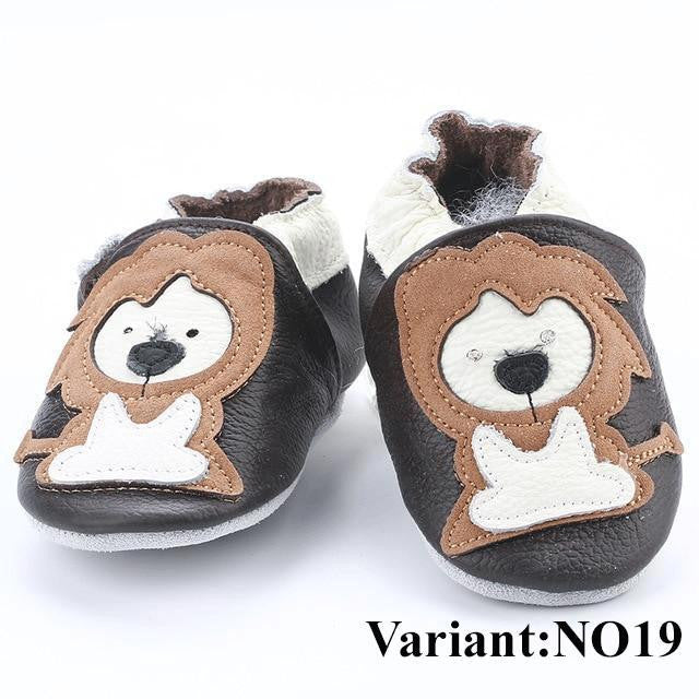 Soft Genuine Leather Baby Shoes Slippers for First Walkers