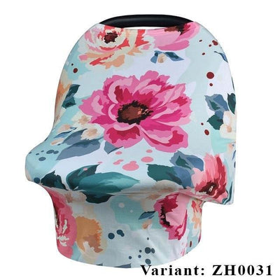 Nursing Breastfeeding Cover Scarf - Baby Car Seat Canopy, Shopping Cart, Stroller, Carseat Covers for Girls and Boys - Best Mult - www.inoutcool.com