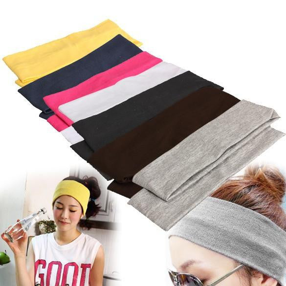 Stretch Ribbon Cotton Hairband - www.inoutcool.com