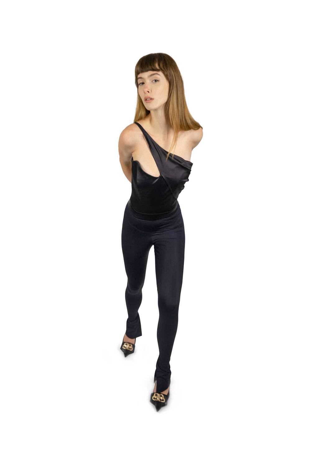ELASTIC JUMPSUIT WITH CORSET