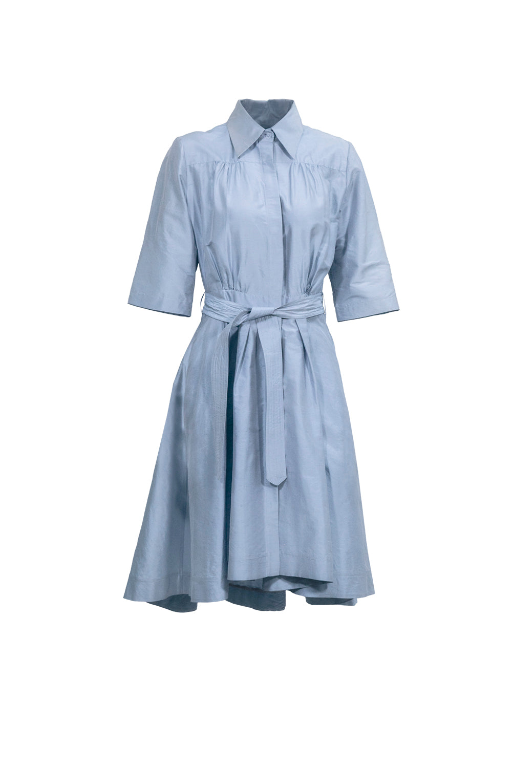 EVA SHIRT CHANTUNG DRESS