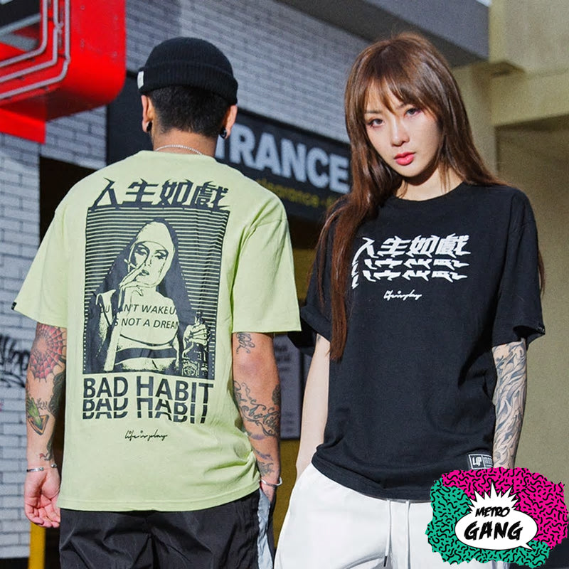 """ Bad Nun "" T-Shirt Streetwear"