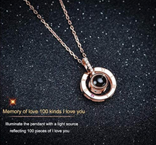 Load image into Gallery viewer, 100 language love necklace