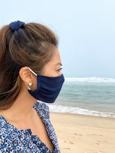 "Load image into Gallery viewer, ""Deep at Sea"" Face Mask and Scrunchie Set"