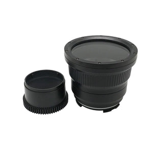 Flat long port for A6xxx series Salted Line (18-105mm & 18-135mm and Sigma 16mm lenses) UW housing - Zoom gear (18-135mm) Included
