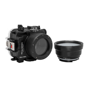 Salted Line Waterproof housing for Sony RX1xx series with 67mm threaded short / Macro port for RX100 III/IV/V