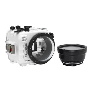 "Salted Line underwater housing for Sony A6xxx series with 4"" Dry Dome Port (White) / GEN 3"