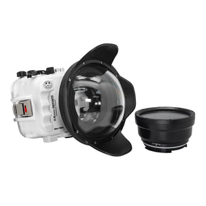 "Salted Line underwater housing for Sony A6xxx series with 6"" Dry dome port (White) / GEN 3"