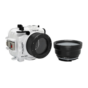 Salted Line Waterproof housing for Sony RX1xx series with 67mm threaded short / Macro port for RX100 III/IV/V (White)