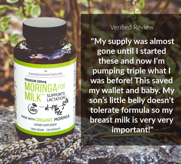 Organic Moringa for Milk™ - 120 Capsules