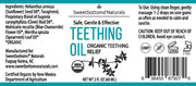 Organic Teething Oil for Immediate Relief