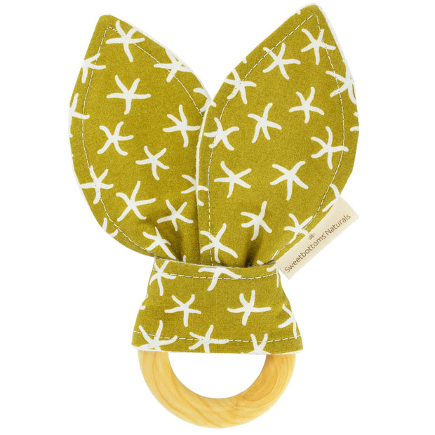 Organic Bunny Ear Teething Ring