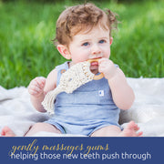 Organic Macrame Wooden Teether Toy with Food-Grade Cotton
