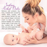All-Natural Soothing Herbal Balm for Diaper Rash and Skin Irritation
