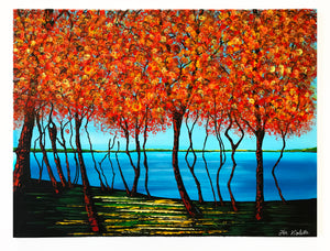"""Fall in Colt State Park"" Bristol, R.I. by Jennifer Violette"