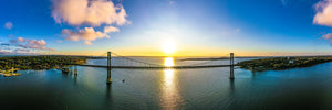 Bristol Mount Hope Bridge Sunset by Ethan Tucker
