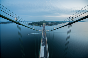Mount Hope Bridge Bristol, R.I. by Brandon Thurber