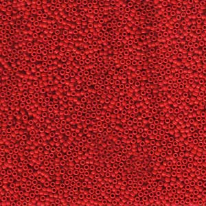 Miyuki M-15-408  # 15/0 Opaque Red Glass Seed Beads - 5 gm