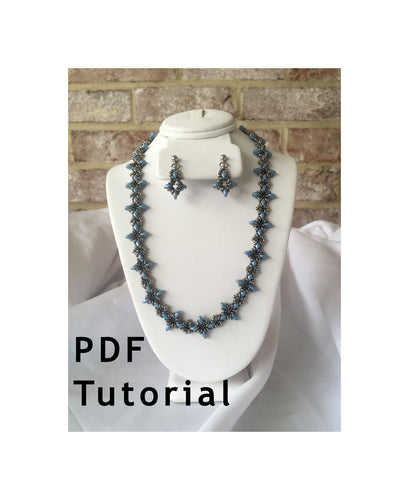 Oh, My Stars! Necklace and Earring Set PDF Tutorial/Pattern/Instructions
