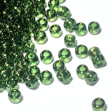 Load image into Gallery viewer, TOHO TR-11-333   11/0 Gold Luster Forest Green Seed Beads, 5 or 10 Grams