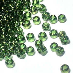 TOHO TR-11-333   11/0 Gold Luster Forest Green Seed Beads, 5 or 10 Grams