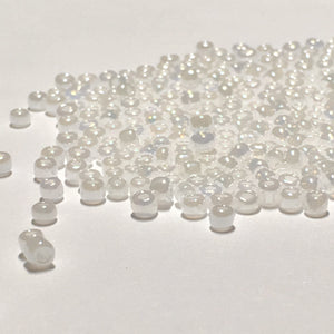 12/0, 11/0 and 10/0 Mix Pearl White Luster Seed Beads, 5 gm