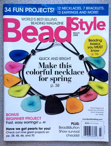 Bead Style Magazine March 2008